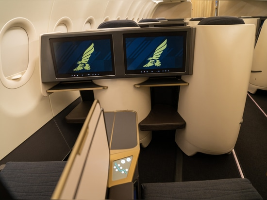 Gulf Air shows off new A321LR cabins with flatbeds in Business Class