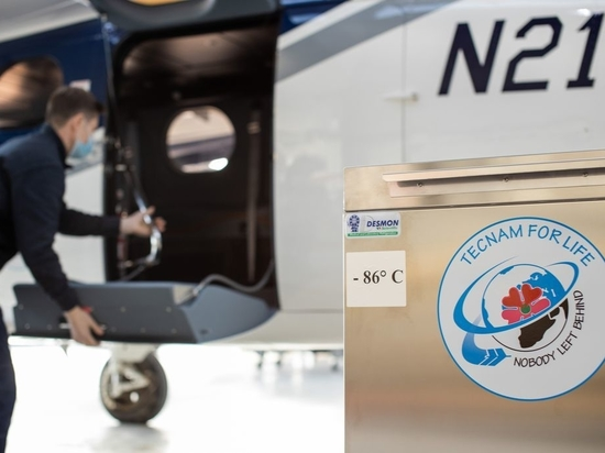 The repurposed P2012 Traveller can carry up to 115,000 doses of the COVID-19 vaccine in ultra-freezers designed by Desmon.