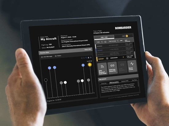 This is what Challenger and Challenger 350 operators using Bombardier's Smart Link Plus free upgrade program will see in their new aircraft health monitoring portal.