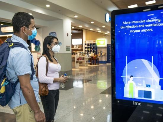 Daniel Oduber Quirós International Airport, Information screens