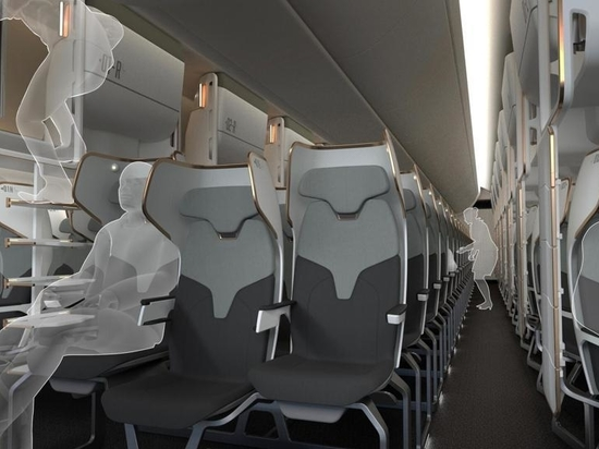 Toyota Boshuku's Cloud Capsule Concept could offer economy passengers the option of both a seat and access to a bunk bed berth