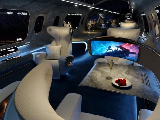 Rosen Aviation's Maverick cabin concept includes touchless passenger features
