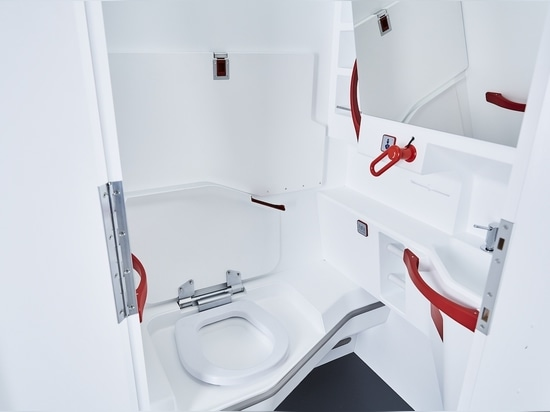 FACC's LAV4ALL accessible lavatory for narrow-body aircraft.