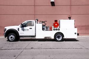 macchina di pulizia per pista di aeroporto montata su camion / per pulizia di superficie / per pista