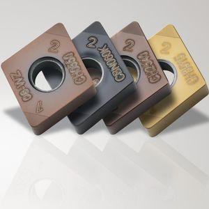 inserto da taglio per lavorazione / di tornitura / per acciaio temprato / per ghisa