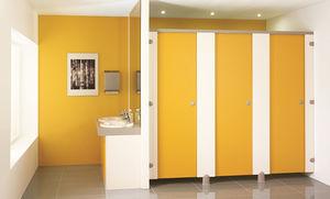 parete divisoria per bagni pubblici per aeroporto / in alluminio