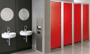parete divisoria per bagni pubblici per aeroporto / in laminato / in alluminio
