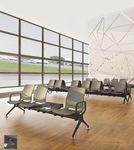 seduta su barra per aeroporto / multiposto / in metallo / senza braccioli