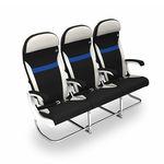 sedile per cabina d'aeroplano / per classe economica / per passeggeri / con braccioli