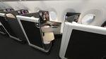 飛行機のキャビン用シート / ビジネスクラス / 肘掛け付き / 内蔵型パネル付き