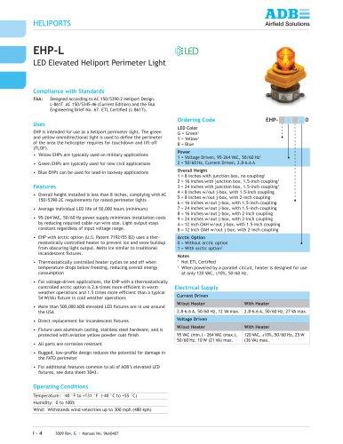 EHP-L LED Elevated Heliport Perimeter Light