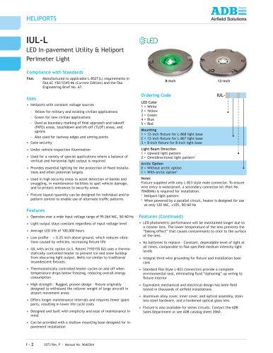 IUL-L LED In-pavement Utility & Heliport Perimeter Light
