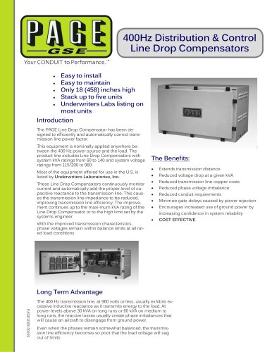400Hz Distribution & Control Line Drop Compensators