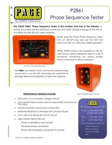 P2861 Phase Sequence Tester