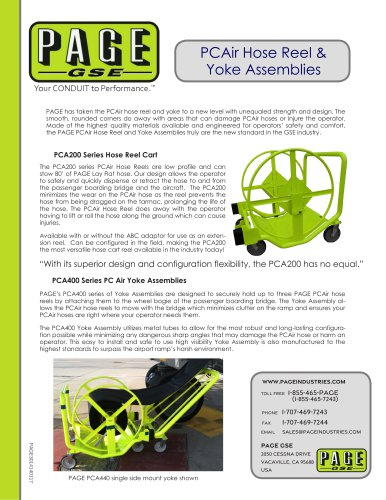 PCAir Hose Reel & Yoke Assemblies