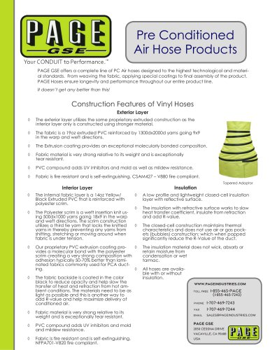 Pre Conditioned Air Hose Products