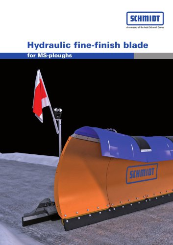 Hydraulic fine-finish blade for MS-ploughs