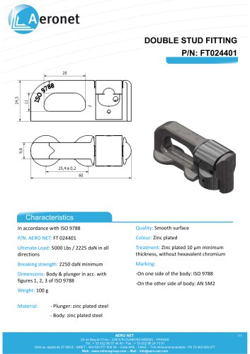 DOUBLE STUD FITTING - FT024401