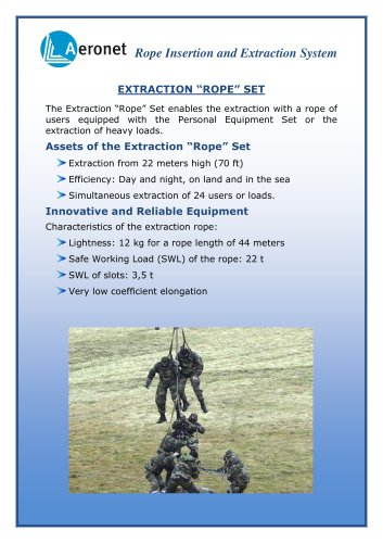 """EXTRACTION """"ROPE"""" SET"""