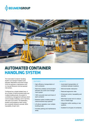 AUTOMATED CONTAINER HANDLING SYSTEM