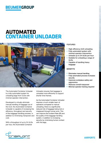 Automated Container Unloader