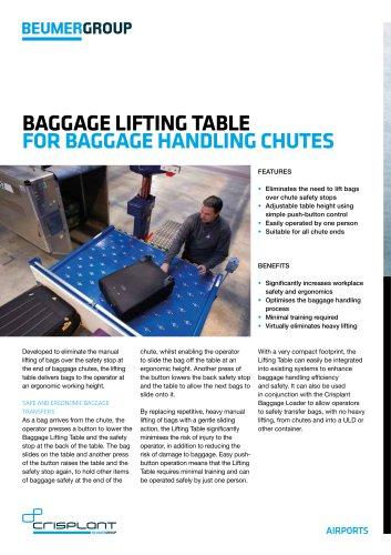 Baggage Lifting Table