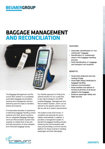 BEUMER Baggage Management and Reconciliation
