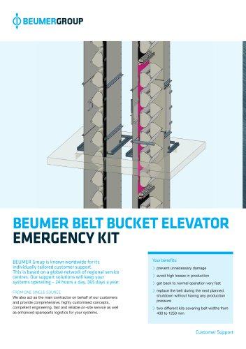 BEUMER BELT BUCKET ELEVATOR