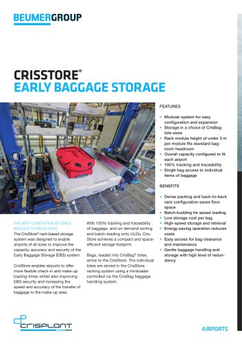 BEUMER CrisStore® Early Baggage Storage