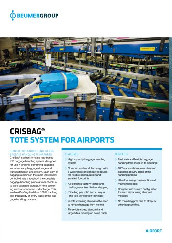 CRISBAG® TOTE SYSTEM FOR AIRPORTS