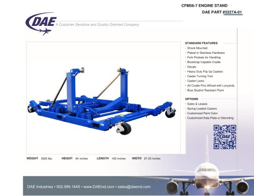 CFM56-7 ENGINE STAND