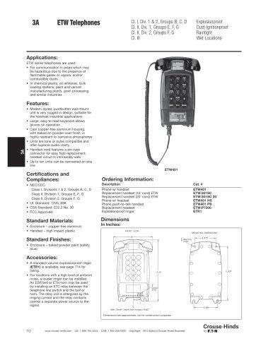 ETW Series Explosionproof Telephones
