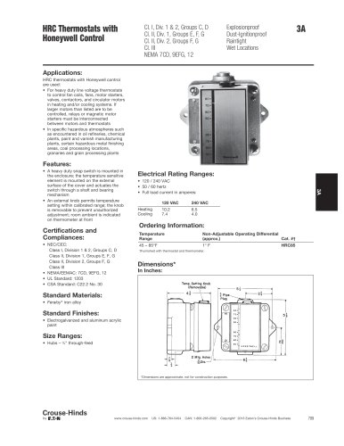 HRC Series Explosionproof Thermostats