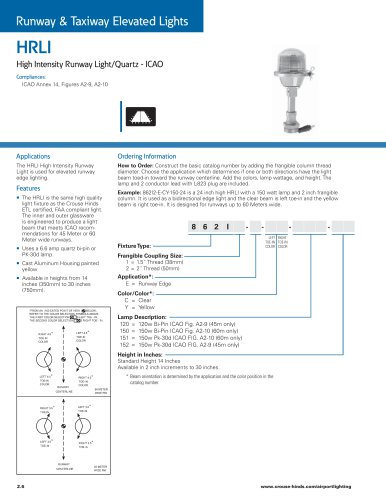 HRLI High Intensity Runway Light/Quartz - ICAO