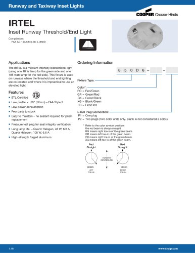IRTEL Inset Runway Threshold/End Light