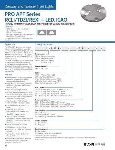 PRO APF Series  RCLI/TDZI/REXI – LED, ICAO