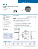 """Shallow Inset Light Base - 8"""" Aluminum - ICAO - 1"""