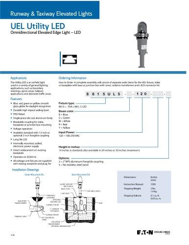 UEL Utility Omnidirectional Elevated Edge Light - LED
