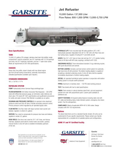 10,000 Gallon Jet Refueler