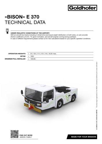 »BISON« E 370 TECHNICAL DATA
