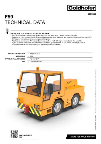 F59 TECHNICAL DATA