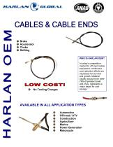 Cables & Cable Ends - 1