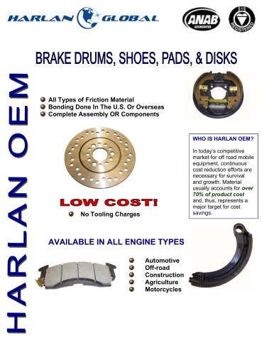 Marketing Material -Brake Drums and Shoes