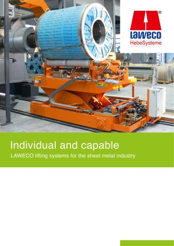 LAWECO lifting systems for the sheet metal industry