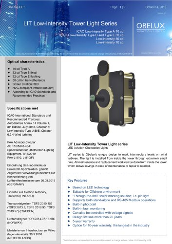 LIT Low-Intensity Tower Light Series