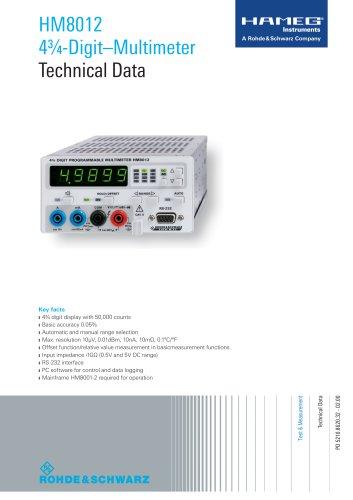 HM8012 4¾-Digit–Multimeter