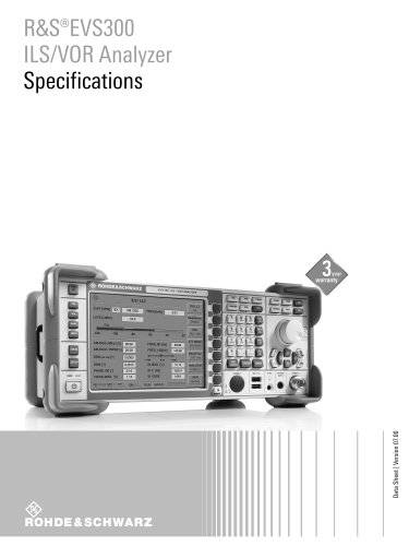R&S®EVS300 ILS/VOR Analyzer