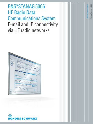 R&S®STANAG 5066 HF Radio Data  Communications System