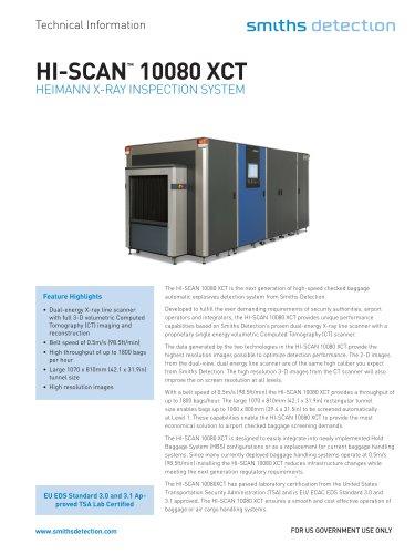 HI-SCAN 10080 XCT