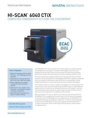 HI-SCAN 6040 CTiX